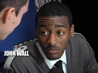 John Wall at Madison Square Garden for the 2010 NBA draft