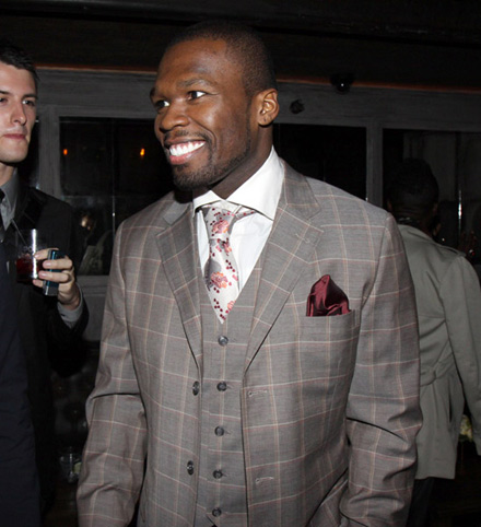 50 Cent in his Power suit