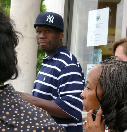 50 Cent leaves Maxwell & Halford drugstore in South Carolina
