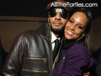 Alicia Keys and Swizz Beatz at M2 Element of Freedom release party