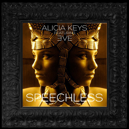 Alicia Keys in Egyptian garb on Speechless cover