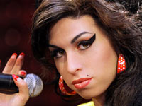 Amy Winehouse wax figure  - just the face