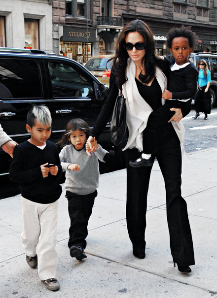 angelina jolie and kids pictures