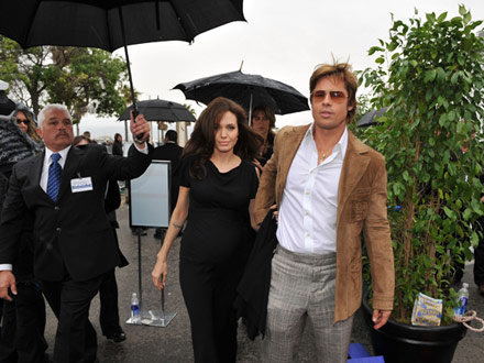 Angelina Jolie and Brad Pitt at the Indy Spirit Awards