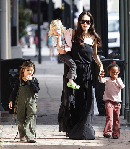 Angelina Jolie does for stroll with her kids in the The French Qurter, New Orleans