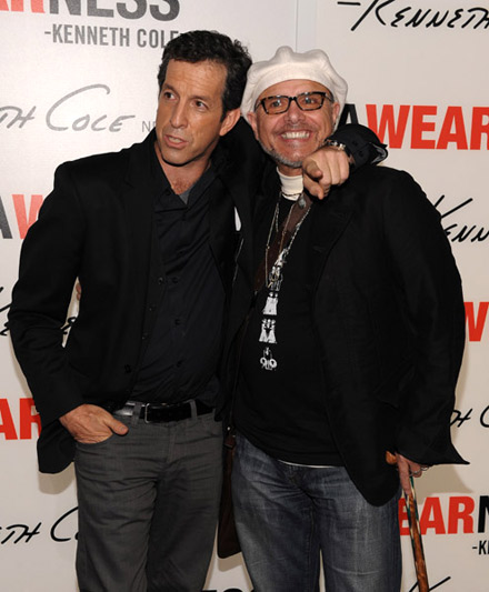 Kenneth Cole and Joe Pantoliano at Awareness book launch