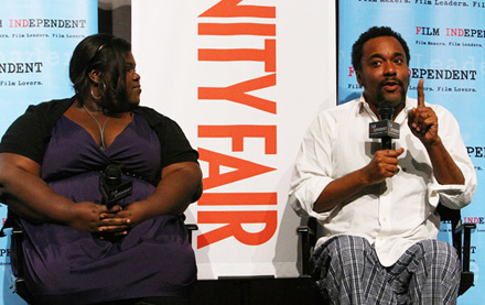 Gabourey Gabby Sidibe and Lee Daniels at Precious screening at Pacific Design Center