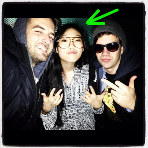 Awkwafina and the crew..