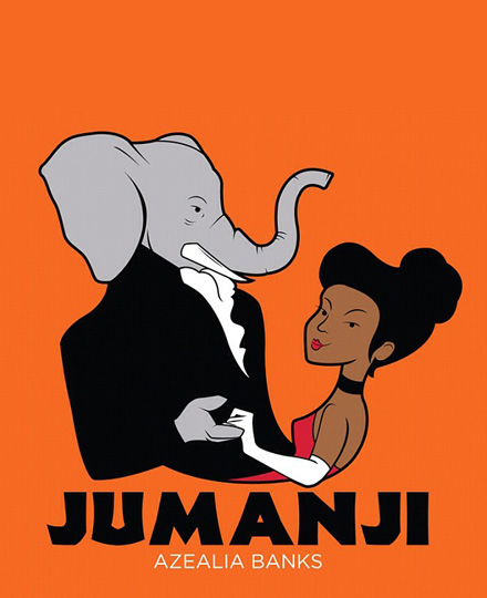 Cartoon Azealia Banks dancing with an elephant - Jumani cover art