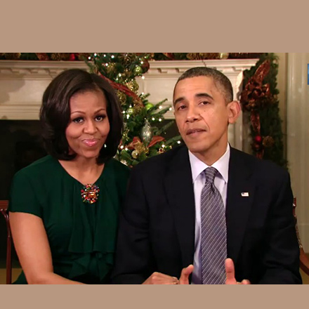 Happy Holidays from Barack and Michelle Obama