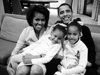 Barack Obama and the family
