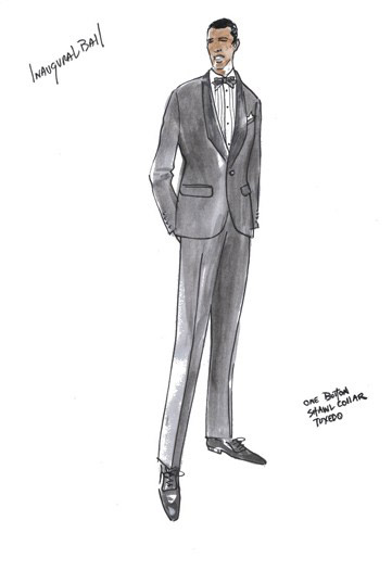 Barack Obama inaugaration suit - Brooks Brothers one button tuxedo