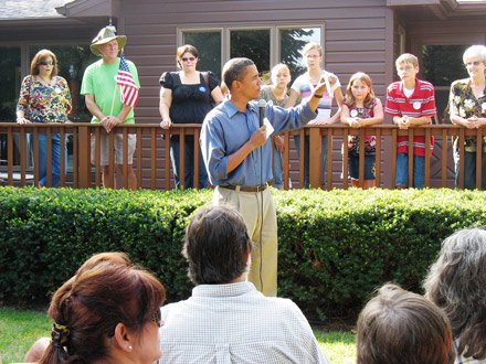 Barack Obama campaigns in Iowa - September 2007