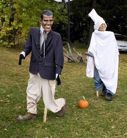 Barack Obama and John McCain Halloween display