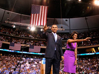 Barack and Michelle Obama in St. Paul Minnesota