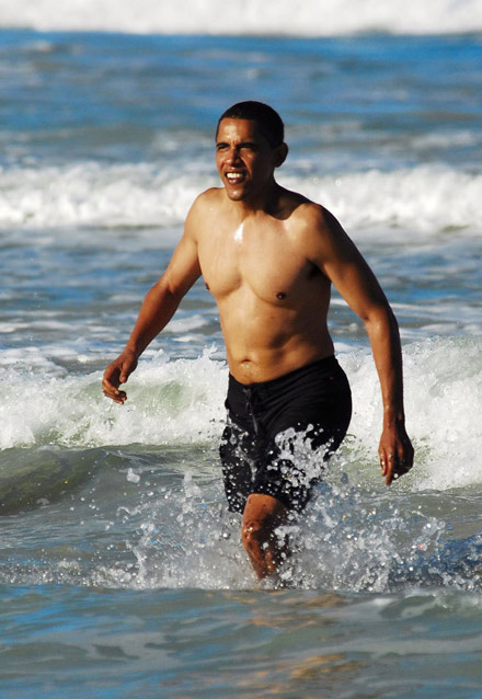 I honestly thought it was going to be the pic of Obama coming out of the ocean, shirtless, with a flat stomach.  https://www.whudat.com/news/images/barack-obama-on-beach-in-hawaii-4.jpg