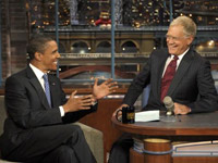 Barack Obama on David Letterman