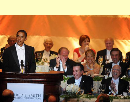 Barack Obama speaks at Alfred E. Smith Dinner