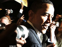 Barack Obama in the media crush