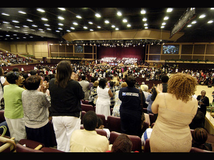 Bernie Mac funeral - view from the seats