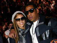 Beyonce and Jay-Z at 2009 NBA All Star event