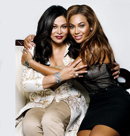 Tina Knowles and Beyonce