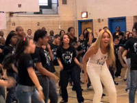 Beyonce dances with students at PS 161