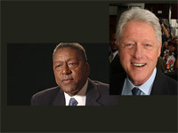 Bob Johnson and Bill Clinton