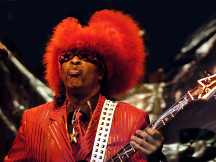 Bootsy Collins performs at 2008 Milwaukee Summerfest