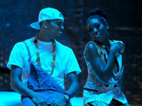 Brandy and Chris Brown smile in put it down video