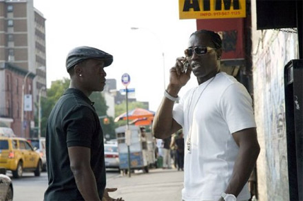 Don Cheadle and Wesley Snipes on street - Brooklyn's Finest