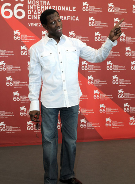 Wesley Snipes at Brooklyn's Finest screening at Venice Film Festival