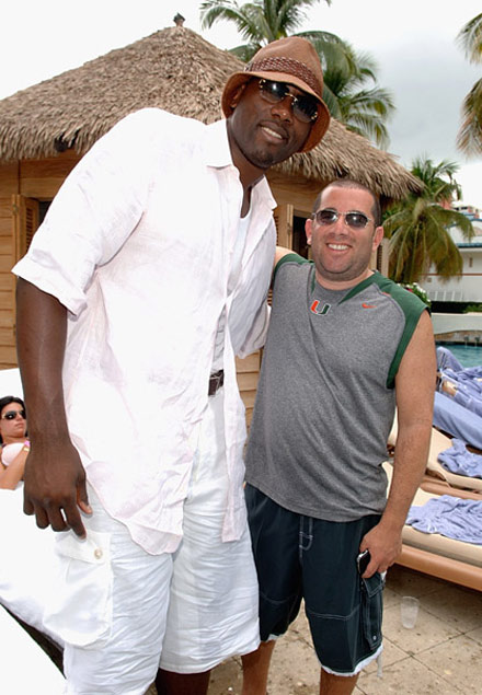 Elton Brand at at Brother Jimmy's pool party in Puerto Rico