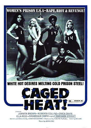 Caged Heat movie poster - 1974