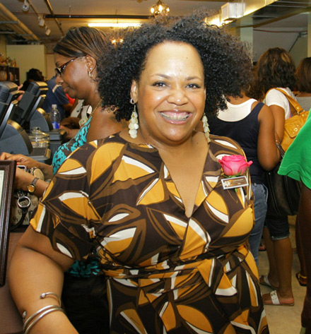 Lisa Price at Carol's Daughter Pop Up Store in New Orleans