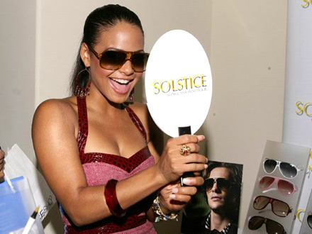 Christina Milian at the Solstice Sunglass boutique