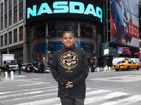 Chirstopher wallace Jr. aka Biggie's son at NASDAQ