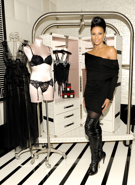 Ciara poses at  Victoria Secret Flagship store opening in New York City