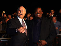 Colin Powell and Nduka Obaigbena Outside London Royal Albert Hall