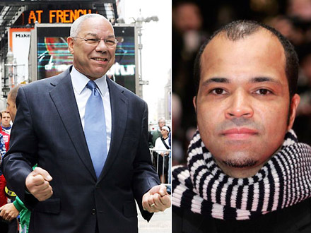 Colin Powell and Jeffrey Wright