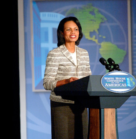 Condoleezza Rice speaks at White House conference