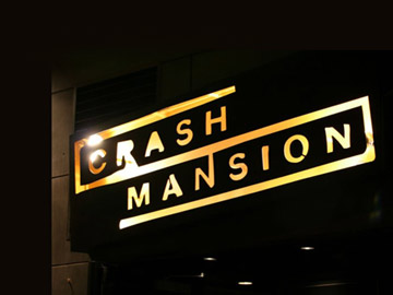 Crash Mansion Sign