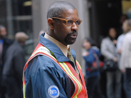Denzel Washington on set of Pelham Bay 123