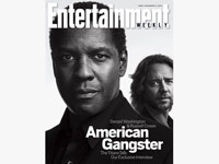 Denzel Washington and Russell Crowe cover of  Entertainment Weekly