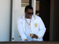 Diddy has a drink