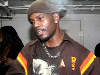DMX  smoked out in a smoky room
