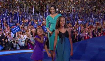 Democratic National Convention Day One - Sasha and Malia Obama