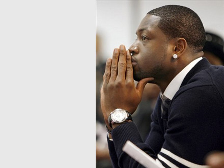 Dwayne Wade at mother's church - Temple of Praise