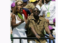 Dwayne Wade and Star Jones at Serena Williams tennis match - March 07
