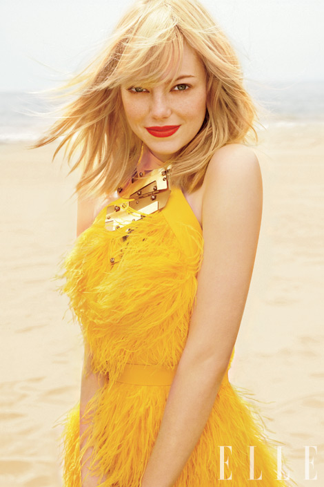 Emma Stone Covers Elle She S A Natural Blonde